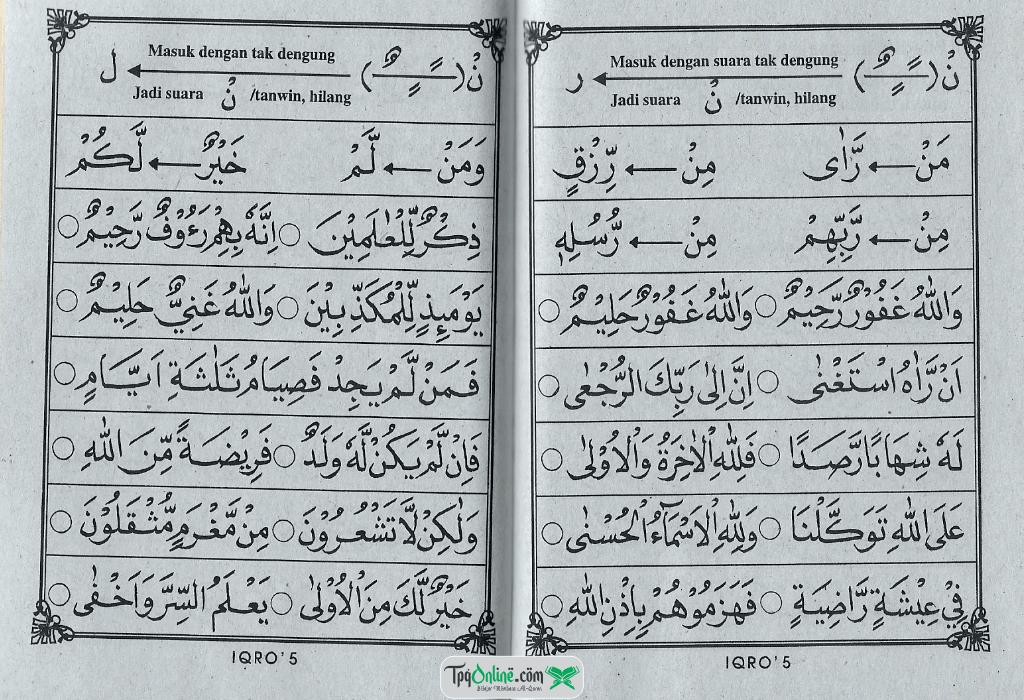 IQRO' Jilid 5 Halaman 24 dan 25