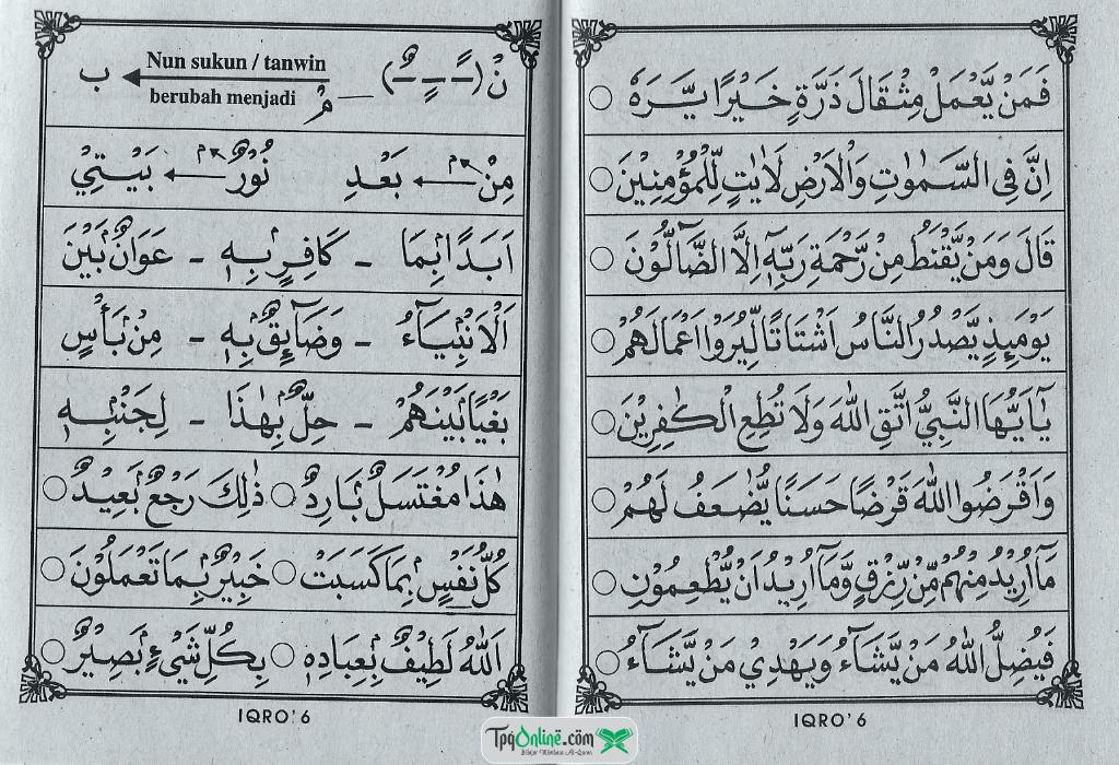 IQRO' Jilid 6 Halaman 6 dan 7